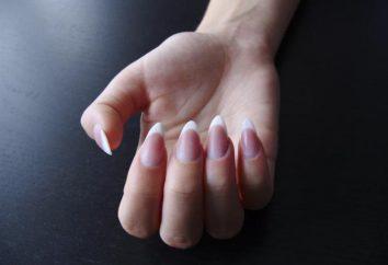 Francese sulle unghie a mandorla. Come rendere le unghie a mandorla? Nails moda