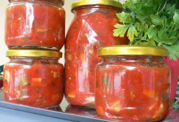 apéritif épicé de tomates pour l'hiver: les meilleures recettes