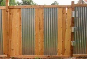 Polen für einen Zaun aus Wellpappe: Holz, Metall, Beton
