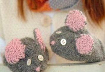 Speichen selbst stricken Fäustlinge für Kinder mit Augen und Ohren!