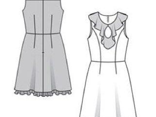 roupas de modelagem: a base dos vestidos padrão