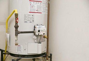 Czyszczenie kolumnę gazu z rękami. urządzenie gejzer