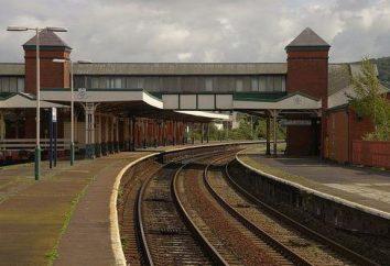 stacja kolejowa. Koleje: Karta. Dworców kolejowych i skrzyżowań
