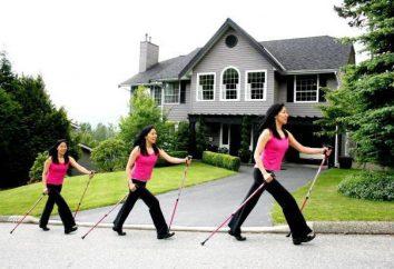 Technique marche nordique avec des bâtons: instruction pour les personnes âgées, photo. marche nordique avec des bâtons: Équipement de marche des avis de perte de poids