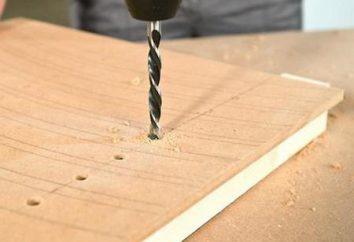 Ferramenta para a abertura de furos em superfícies diferentes: formulários, instruções e recomendações