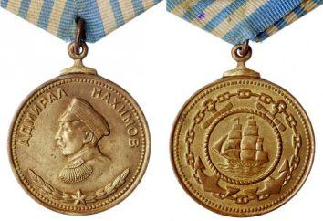 """Medalha de Nakhimov – analógico naval prêmio de armas combinadas """"para o serviço em Batalha"""""""