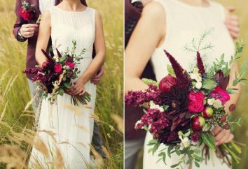 Mariage de couleur bourgogne: idées pour la décoration, photo