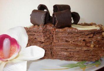 """Chocolate """"Napoleon"""": ciasto przepis ze zdjęciem"""