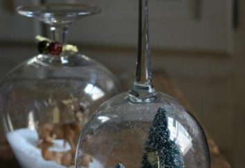 Nowy Rok świecznik ze szkła przez własne ręce