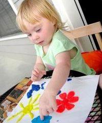 Aplicação para crianças de papel e argila