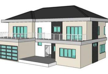 Projets d'une maison à deux étages avec un garage. Les avantages et les inconvénients de ces bâtiments
