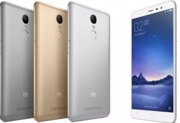 Smartfon Xiaomi redmi Uwaga 3 Pro 32GB: opinie, specyfikacje, instrukcje