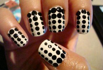 Perfetta manicure utilizzando punti: punti di progettazione delle unghie