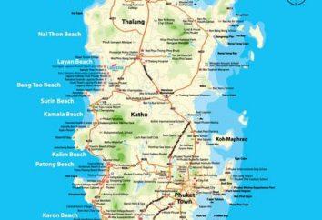Phuket, Patong. Mapa do hotel de Phuket (Patong)