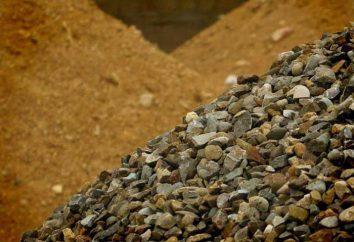 Das Schüttgut (Sand, Kies): Herstellung und Verkauf