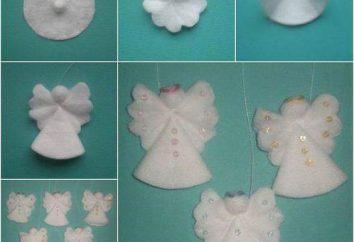 Anjo de discos de algodão de diferentes maneiras