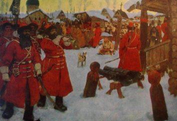 Strelets tropas de Pedro I. Lo que distingue a las tropas Strelets del ejército regular