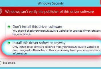 Windows7: potrzeba wyłączyć podpis kierowcy. Opis, wskazówki i informacje zwrotne