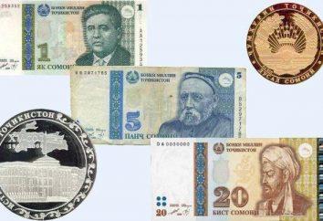país colorido do Tajiquistão. Tadjiquistão moeda