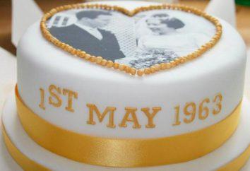 Kuchen auf ihre goldene Hochzeit: interessante Ideen