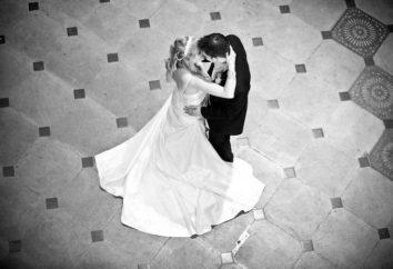 A primeira dança do casamento a noiva eo noivo