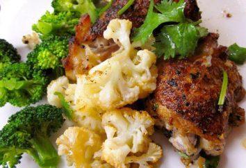 Couve-flor com frango: as melhores receitas, especialmente cozinhar e recomendações