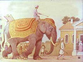 """La fábula de Krylov """"El elefante y los perros falderos."""" La moral y el contenido"""