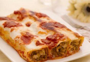 Cannelloni: recette avec de la viande et le brocoli