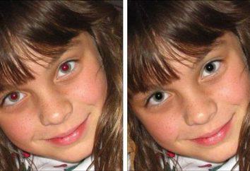 Al igual que en Photoshop para eliminar los ojos rojos y ajuste el color del iris