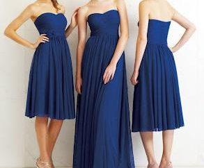 Niebieska sukienka – luksusowy strój