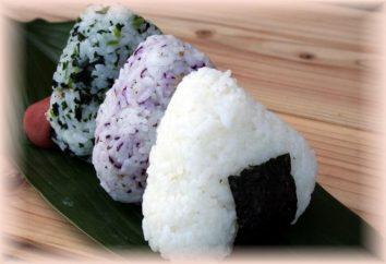 Prato japonês onigiri. A receita para cozinhar