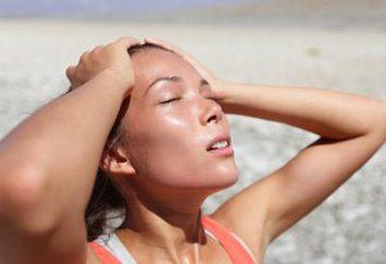 Główne objawy szoku termicznego. pierwsza pomoc