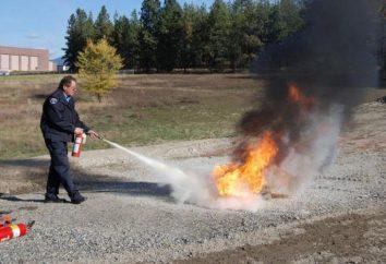 métodos de terminação de meios de extinção de ardor e
