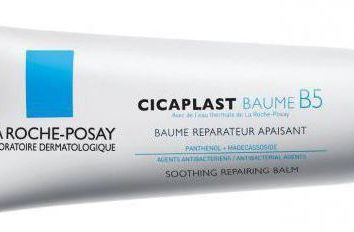 Cicaplast Baume B5: en utilisant l'instruction (La Roche-Posay)