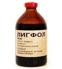 """droga complexo para animais """"Ligfol"""": Instruções para uso"""