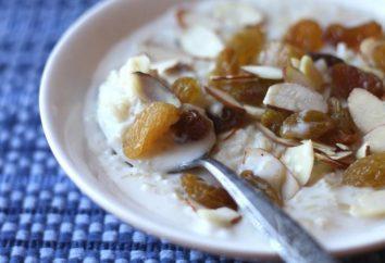 Come cucinare porridge di riso con latte e noci e frutta secca?