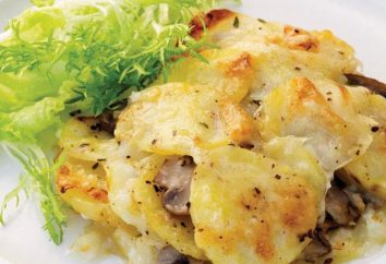 Da die gebacken und gedünstete Kartoffeln mit Pilzen in saurer Sahne in multivarka?
