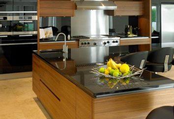 konstrukcja kuchnia z barem śniadaniowym dla nowoczesnych wnętrz
