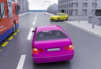 L'intersection de la ligne solide – une règle et pénalité pour la violation