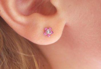 Comment supprimer boucles d'oreilles, goujons: conseils et astuces
