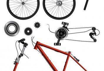 parti di biciclette ei loro nomi