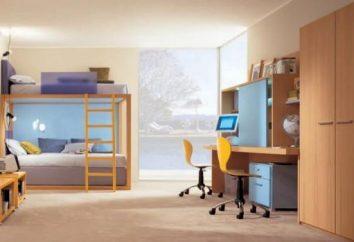Uma mesa para duas crianças. opções de design