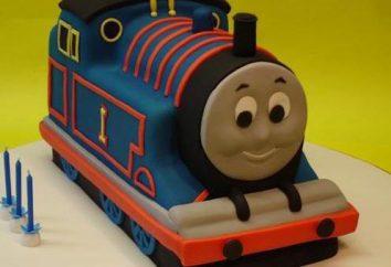 """Receita preparação gradual bolo """"Thomas the Tank Engine"""""""