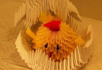 Frango modular com cobra de origami: esquema, master class
