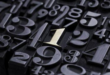 In numeri come una parte del discorso. Numeri: esempi