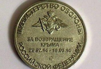 """Medaglie """"Per il ritorno della Crimea"""". FSB Medaglia """"Per il ritorno della Crimea"""""""