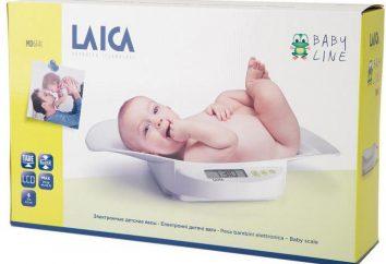 Babywaage Laica: Beschreibung und Fotos