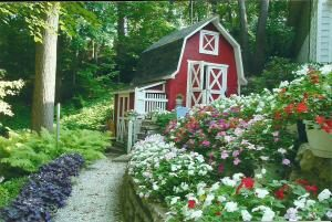 Krajobrazu. Ogród własnymi rękami dla małej działce
