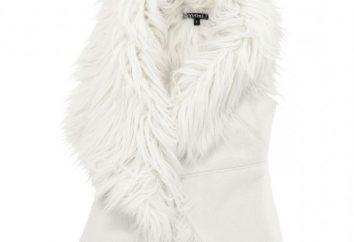 chaleco de moda hecha de piel de oveja – la tendencia de la temporada