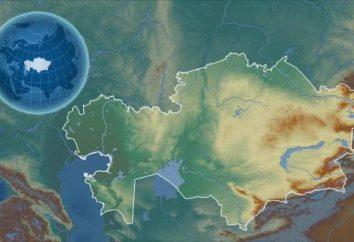 Relief z Kazachstanu: pustynie, półpusty, stepy. Khan-Tengri. Rzeki Kazachstanu